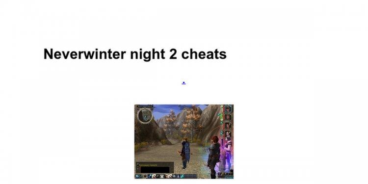 Neverwinter night 2 cheats