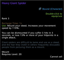 Heavy Giant Spider Tooltip